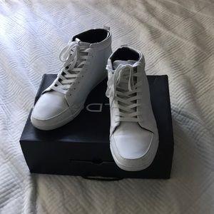Men's all white Aldo High Top sneaker
